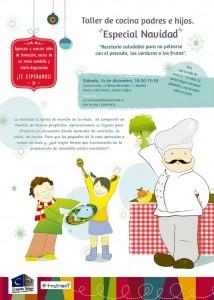 Taller de cocina navideña y educativa para padres e hijos.