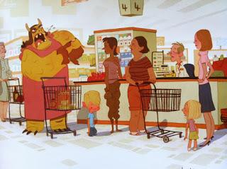 Ilustración el niño y la bestia 2. Corto para explicar el divorcio y las emociones que genera.