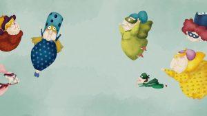 Ilustración del cuento Superabuelas con superpoderes. Cuento educativo sobre abuelas