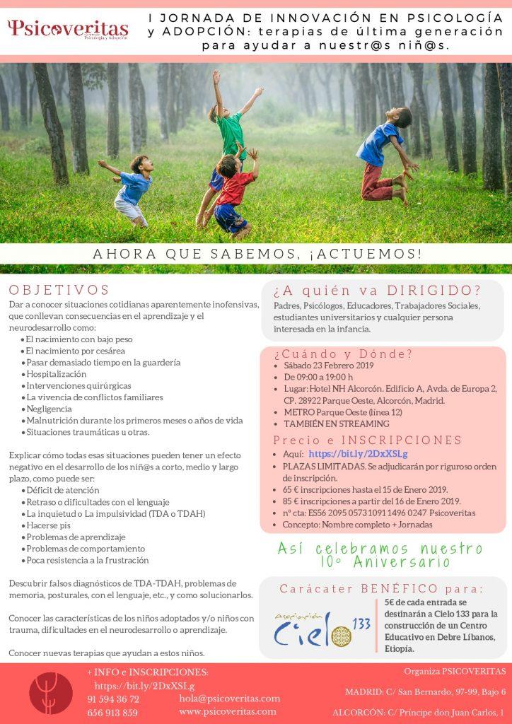 I Jornada de Innovación en Psicología y Adopción: Terapias de última generación para ayudar a nuestros niños.
